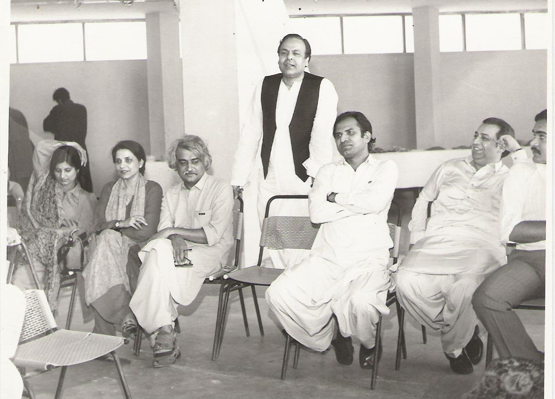 Tishna with Anwar Mqsood, Uzma Gilani & Saleem Nasir